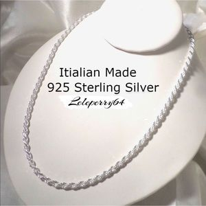 Accessories - NWT... Sterling Silver Rope Chain